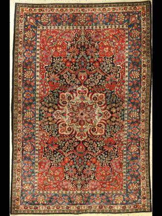 Semnan rug old, Persia, approx. 70 years, woolon cotton