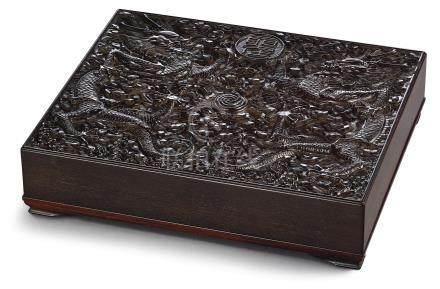 清乾隆   紫檀聖壽萬年寶盒