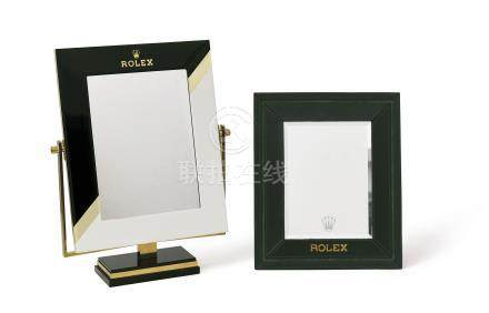 ROLEX. A SET OF TWO RETAILER MIRRORS