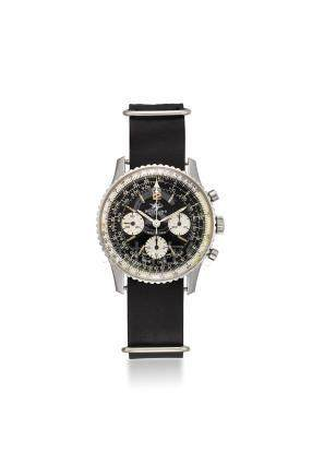 BREITLING. A VERY FINE STAINLESS STEEL PILOT'S CHRONOGRAPH WRISTWATCH