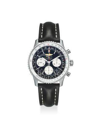 BREITLING. AN EXTREMELY FINE STAINLESS STEEL CHRONOGRAPH AUTOMATIC WRISTWATCH WITH DATE, ORIGINAL CERTIFICATE AND BOX