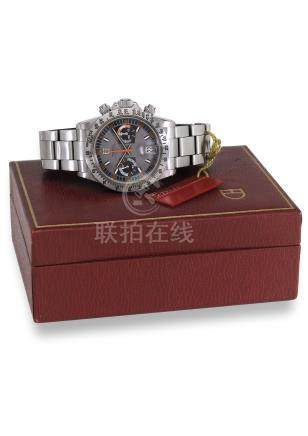 TUDOR. A FINE STAINLESS STEEL CHRONOGRAPH WRISTWATCH WITH BRACELET AND ORIGINAL BOX