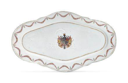 AN EXCEPTIONALLY LARGE SPANISH ARMORIAL PLATTER