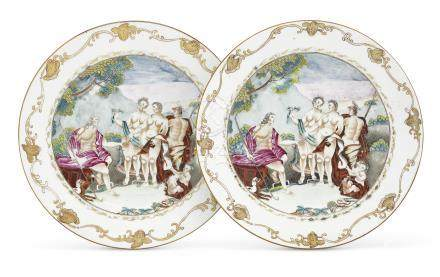 A PAIR OF 'JUDGMENT OF PARIS' PLATES