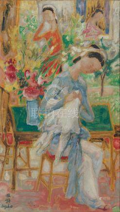 Le Pho (Vietnamese-French, 1907-2001) La Couture, c. 1960