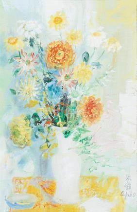 Le Pho (Vietnamese-French, 1907-2001) Bouquet de Fleurs, c. 1970