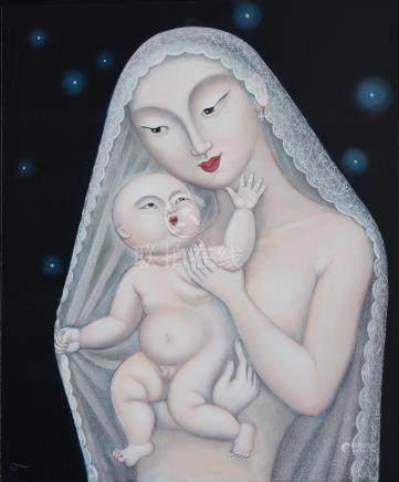 Olga Marie Polunin (Singaporean, b. 1963) Madonna and Child – Under the Lace Veil, 2010