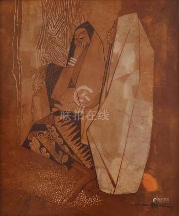 Seah Kim Joo (Singaporean, b. 1939) Friendship