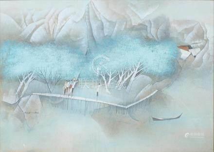 Tay Bak Koi (Singaporean, b. 1939) On the Way Home