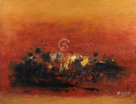 Cheong Soo Pieng (Singaporean, 1917-1983) The Red Tone, 1962