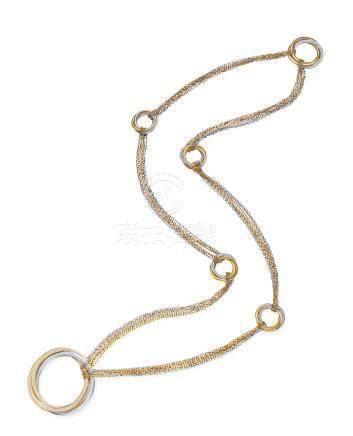 卡地亚设计 钻石项链