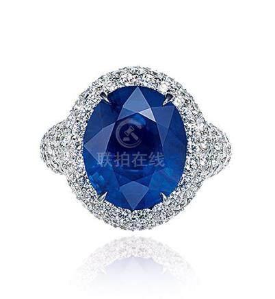 GRAFF设计 8.44克拉缅甸「皇家蓝」蓝宝石配钻石戒指,未经加热