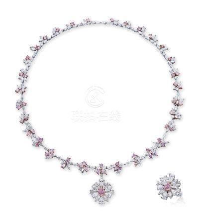 彩色钻石配钻石挂坠项链/戒指/手链
