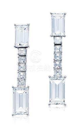 总重16.07克拉钻石耳环