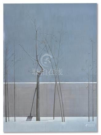 劉野 竹子和樹的構圖