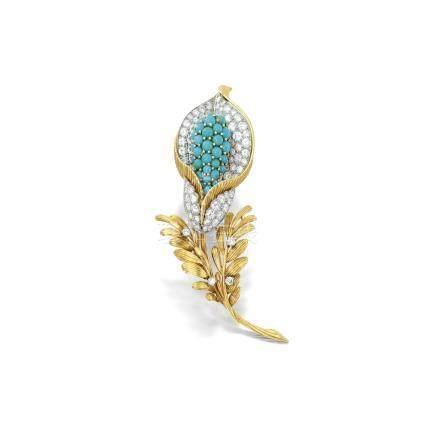 綠松石配鑽石別針, 卡地亞(Cartier)