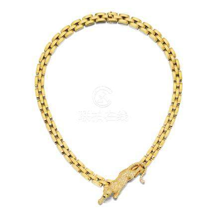 K黄金配鑽石項鏈, 'Maillion Panthère', 卡地亞(Cartier)