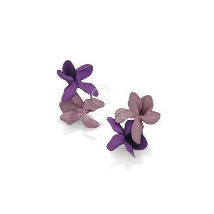 鋁耳環 一對, 'Violet', JAR
