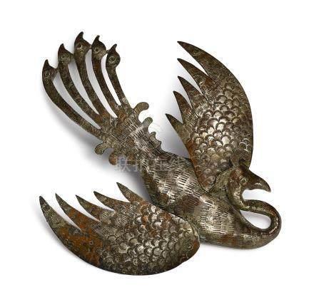 唐   銅鍍銀鳳鳥髮飾