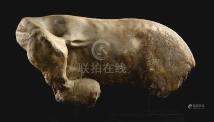 約公元二世紀   羅馬大理石雕母羊哺兒