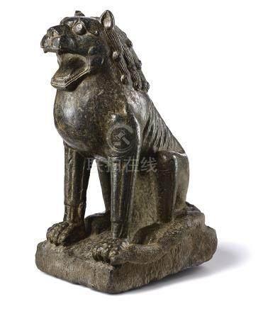 唐   石雕坐獅