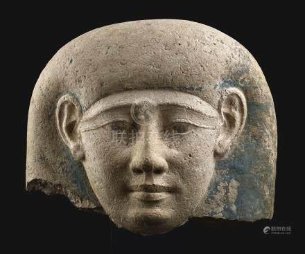 第三十朝至托勒密王朝早期約公元前380-250年   埃及石灰石棺殘件