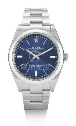 勞力士 11430型號「OYSTER PERPETUAL」精鋼鍊帶腕錶,錶殼編號7Z24F301,約2017年製。