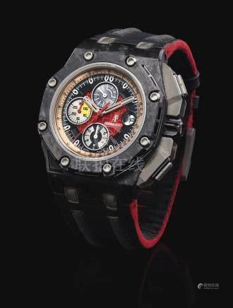 愛彼 26290IO.OO.S001VE.01型號「ROYAL OAK OFFSHORE GRAND PRIX」限量版陶瓷、鍛碳及鈦金屬計時腕錶備日期顯示,機芯編號772'355,錶殼編號G89076,編號0533/1750,約2010年製。
