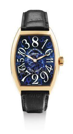 Franck Muller 7851 CH型號「CRAZY HOURS」粉紅金腕錶,錶殼編號263,約2010年製。