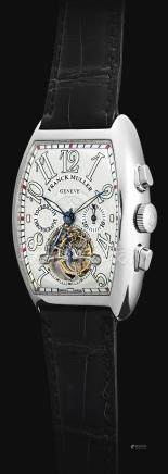 Franck Muller 7850 CC T型號「IMPERIAL TOURBILLON」白金陀飛輪計時腕錶,錶殼編號12,約2000年製。