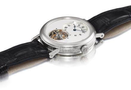 寶璣 5357型號「CLASSIQUE GRAND COMPLICATION」鉑金陀飛輪腕錶,錶殼編號2488Q,約2005年製。