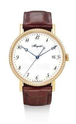 寶璣 5178型號「CLASSIQUE」黃金鑲鑽石腕錶備日期顯示及琺琅錶盤,機芯編號0006015,錶殼編號3042 AO,約2008年製。