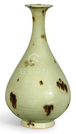 元   龍泉青釉褐斑玉壺春瓶