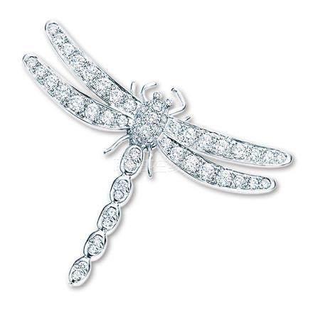 帝芙尼 蜻蜓钻石胸针