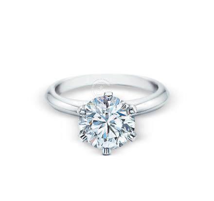 帝芙尼 3.52克拉圆形钻石戒指