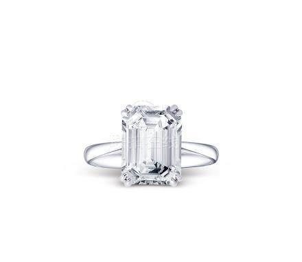 5.00克拉祖母绿形钻石戒指
