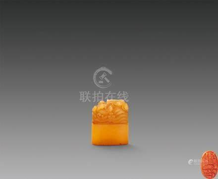 田黄鸳鸯钮章