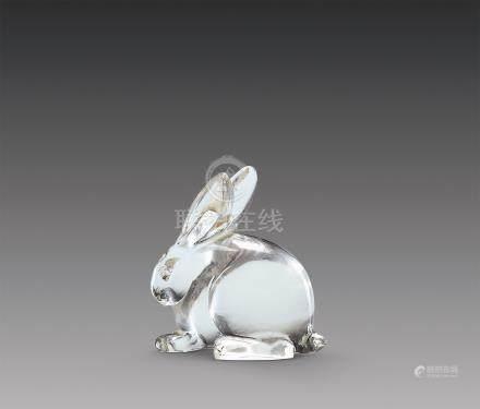 水晶兔摆件