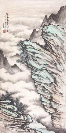 黃君璧  雲起春山