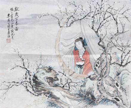 李鳳公  獻歲百春圖
