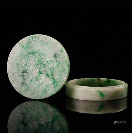 CHINESE JADEITE COVER BOX