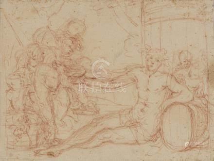 GABBIANI Antonio Domenico (attribué à)  Florence 1652-1726  Bacchus jeune accou