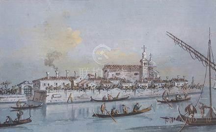 GUARDI Giacomo Venise 1764 - id. ; 1835  1 - Vue de Sant'Andrea della Certosa