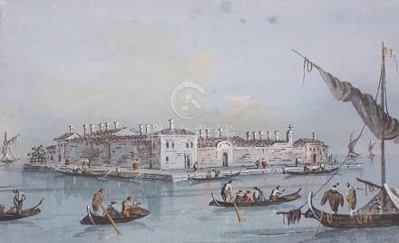 GUARDI GiacomoVenise 1764 - id. ; 18351- Vue de San Giobbe avec l'île de San Se