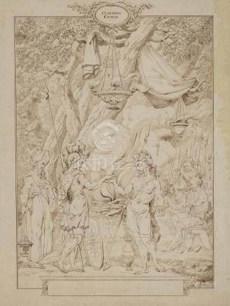 VAN DRECHT Johannes Amsterdam 1737- id. ; 1807  Claudius Civilis ou le