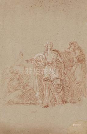 SUAU Pierre Théodore Toulouse 1785  - 1856   Œdipe et Antigone   Sangu