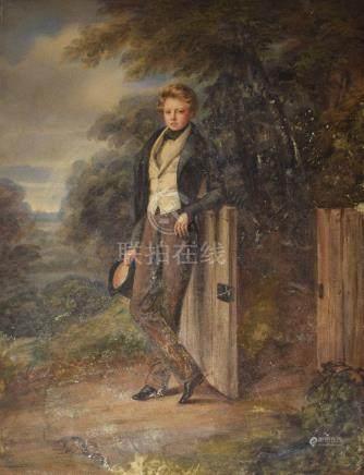 ECOLE FRANCAISE, première moitié du XIXème siècle                Portrait d'u