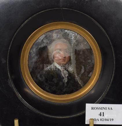 ECOLE FRANCAISE, seconde moitié du XVIIIème siècle   Portrait présumé d'Henri D