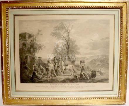 Carel VAN FALENS (1683-1733) d'après Jean MOYREAU (1690-1762). Rendez-vous de c