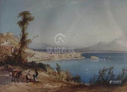 William CALLOW (1812-1908). La baie de Naples. Aquarelle signée et datée 1840